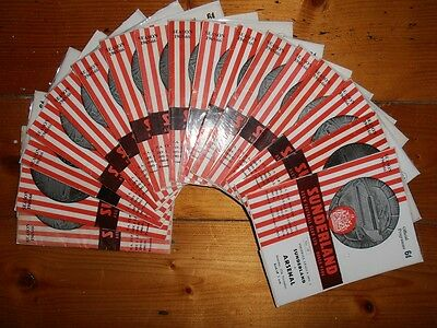 1965-66 SUNDERLAND HOME FOOTBALL PROGRAMMES - Your Choice - FREE Postage