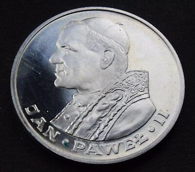 1982 Poland 1000 zloty Pope John Paul II Silver uncirculated Coin  Y# 144