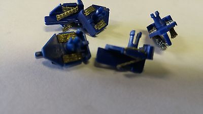 Scalextric Slot Car Blue Long Stem Guide Blades with Braids  (5)