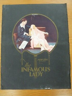 "Campaign Sheet for the "" The Infamous Lady""  1928 film"