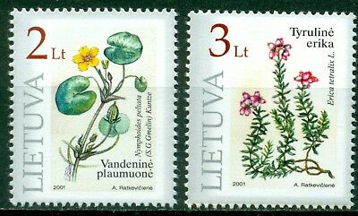 Lithuania Scott #693-694 MNH Flowers Flora CV$4+