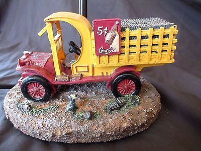 "Collectible- ""The Coca Cola Company"" Vintage Delivery Truck Table Lamp -2000"