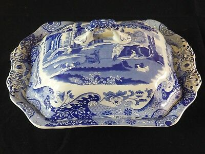 Spode Blue Italian 12inch Covered Vegetable Dish or Terrine. New