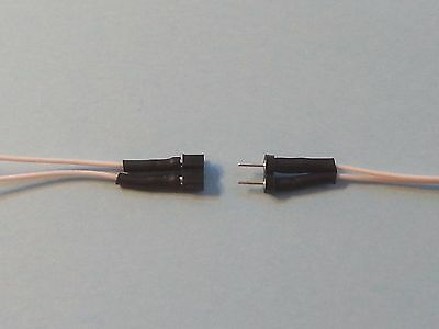 2 X Mini-Plug 2 Pins M/f  2.54Mm Wired 2 X 15Cm