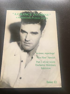 Morrissey A Chance to Shine Fanzine Issue 12 1997 The Smiths