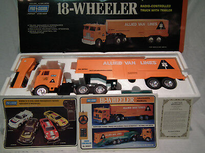 Pro-Cision Allied Van Lines 1977 Radio Control Reailer 18 Wheeler - Near Mint In