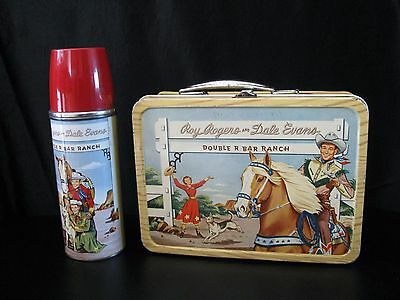 Roy Rogers & Dale Evans Vintage 1950's Western Lunch Box & Thermos