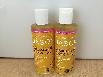 Jason Vitamin E Oil 5,000 IU Natural Skin All Over Body Oil 2 x 4fl oz