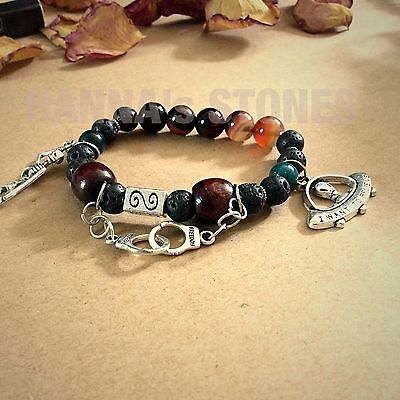 Gothic skeleton Bracelet With Gemstones