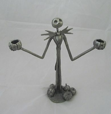 Goth NIGHTMARE BEFORE CHRISTMAS Jack Skellington Pewter Candalabra Candle Holder