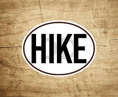 C1106 I Hike To Burn Off The Crazy Girl Hiker Hiking Decal Sticker Laptop