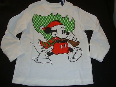 Old Navy / Disney Mickey Mouse Christmas  Graphic Tee Shirt Nwt