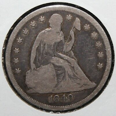 1849 Seated Liberty Silver Dollar 1$