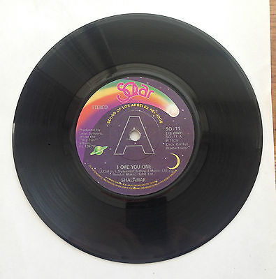 "Shalamar I Owe You One / The Right Time For Us SOLAR Records EX 7"" Vinyl"