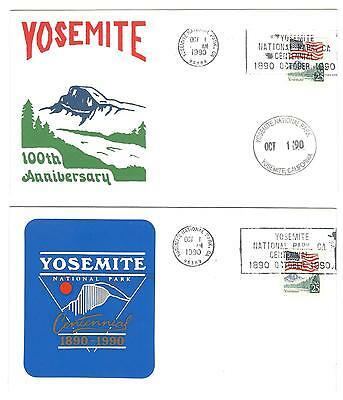 USA Event cover x 2 Yosemite national Park 100th Anniversary USA stamps