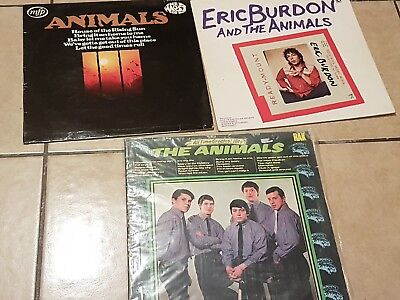 3x The Animals Lps  All Time Greatest hits Eric Burdon the most of