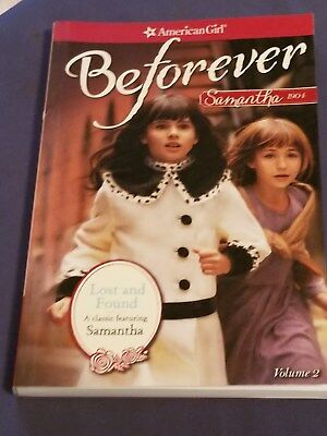 AMERICAN GIRL book BEFOREVER SAMANTHA 1904 LOST AND FOUND sc brand new
