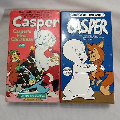 Hanna Barbera Casper the Friendly Lot of 2 VHS First Christmas Cartoon Favorites