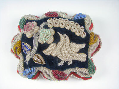 Native American Beaded Pillow Pincushion early 20th century Superb Condition