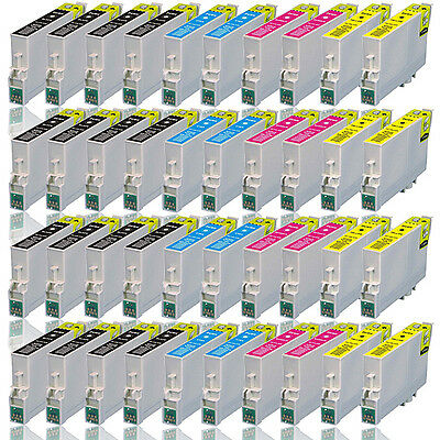 40x Druckerpatronen für EPSON Workforce WF-2510 2520 2530 2540 2630 2650 2010W