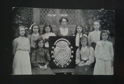 Group of Girls. Old Postcard