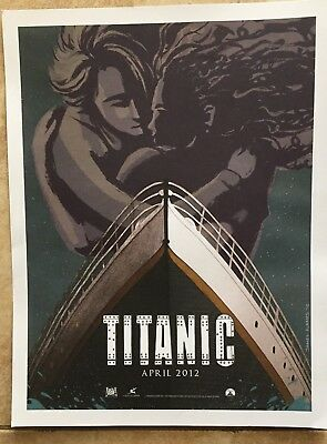 100th Year Anniversary TITANIC MOVIE POSTER ORIGINAL 10x13 Limited James Flames