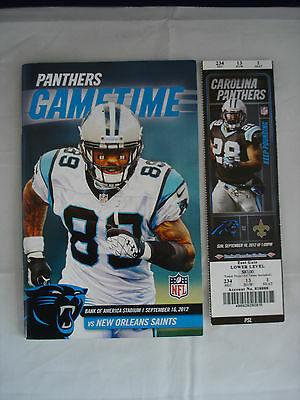 Gametime - Carolina Panthers - New orleans Saints - Sep 16th 2012 - Ticket