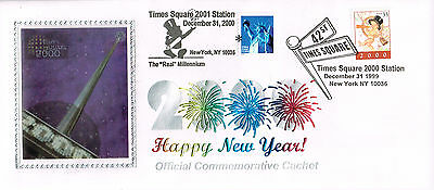 Event Cover Usa Year 2000 Happy New Year Times Square New York  A Must Have (E)