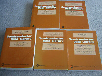 Set of 5 Motorola Data Books 1974 Complete Semiconductor Data Library