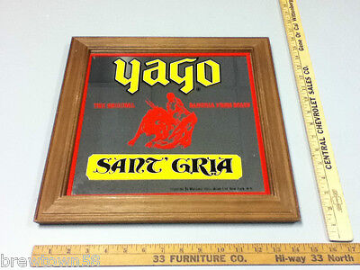 Yago bar sign mirror the original sangria from Spain beer signs 1 import  RI6