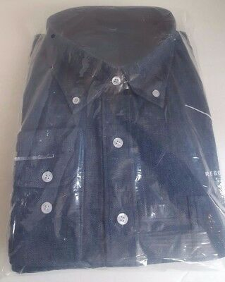 Mirage Resort Spa Casino Las Vegas Heavy Blend Long Sleeve Denim Blue Shirt XXL