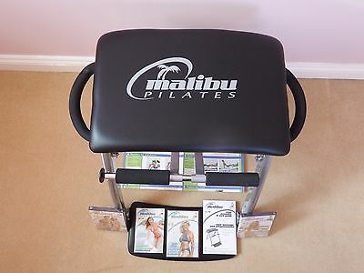 Malibu Pilates Chair with 3 sealed DVD's, Instruction book, Leaflets Complete.