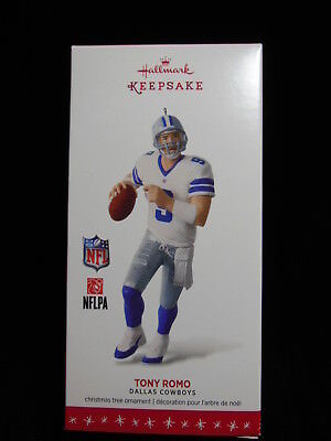 Hallmark Keepsake 2016 Tony Romo Dallas Cowboys Ornament NIB