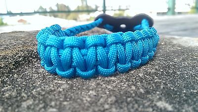 Archery Bow Sling 550 Paracord  Sky Blue  +2 zipper pulls