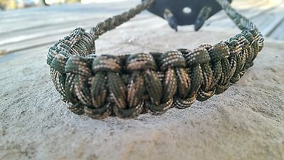 Archery Bow Sling 550 Paracord Woodlands camo  + 3 zipper pulls
