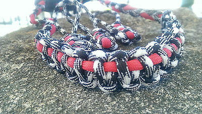 Archery Bow Sling 550 Paracord Black white red +3 zipper pulls