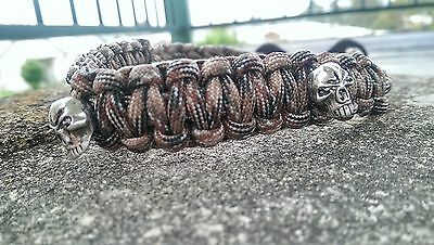 Archery Bow Sling 550 Paracord - Dream brow camo + 3 zipper pulls MADE TO ORDER