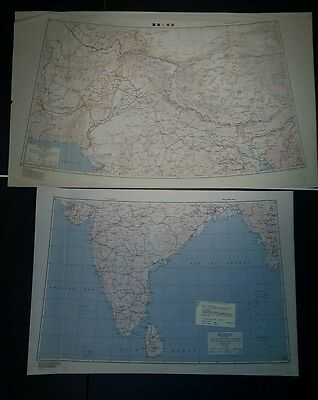 "1944-5 US Army ""Special Strategic Maps"" India AMS 5207 1:4,000,000"