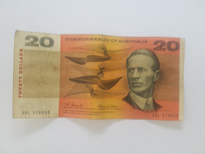 Commonwealth of Australia 1966 Australian $20 Paper Banknotes Coombs/Wilson