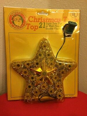 Vintage Star Tree Topper New In Package