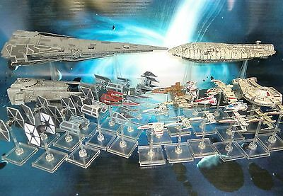 HUGE Star Wars X-Wing Miniatures Lot 93 Ships !! Tantive IV Imperial Raider