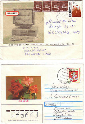 Lithuania - 3 covers #1 (see scans) (Mixed condition)
