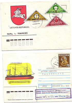 Lithuania - 3 covers #2 (see scans) (Mixed condition)