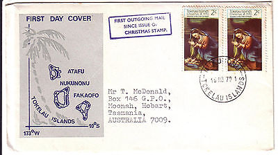 FDC Tokelau Islands 1970 Christmas