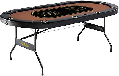 Barrington 10 Player Poker Table No assembly Required Brand New Free Shipping