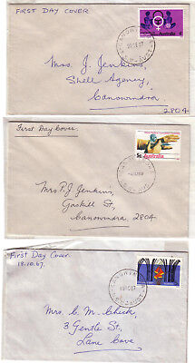 "FDC x 3 1967 & 1968 Obstetrics, Christmas & Medical. CDS ""CANOWINDRA"""