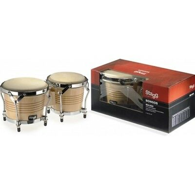 BW-200-N Wood Bongo - Natural