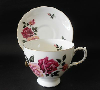 Royal Vale Bone China Duo Cup & Saucer Patt 8329 England