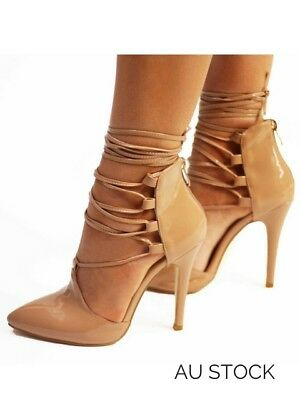 Women's fashion shoes high heels lace up
