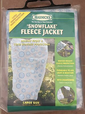 Haxnicks Plant Garden Frost Cold Protection Fleece Jacket Cover Size Large (A)
